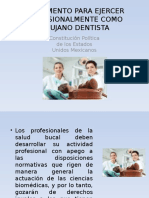 Reglamento Para Ejercer Profesionalmente Como Cirujano Dentista