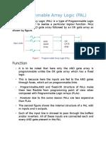 (Pal)Programmable Array Logic