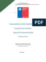 Evaluación Ex Post Atención Primaria Salud