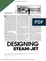 Designing steam jet ejector