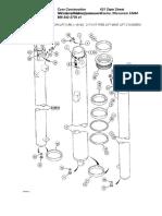 21 Foot Free Lift Mast Lift Cylinders