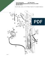 21 Foot Free Lift Mast Lift Cylinder Hydraulic Circuit