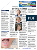 Pharmacy Daily for Mon 21 Nov 2016 - Leaders hailed at MM2016, SHPA publication revamp, Blooms makes a wish, Weekly Comment and much more