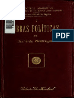 Monteagudo Obras Políticas