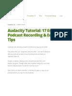 Audacity Tutorial 17 Essentials