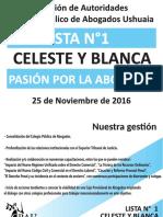 Celeste y Blanca