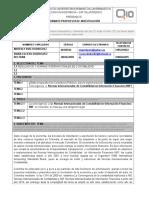 Ficha Tecnica de La Propuesta Investigacion i