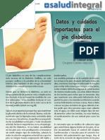 Datos y cuidados importantes para el pie diabético