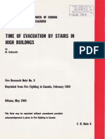 Galbreath - 1969 - Time of Evacuation by Stairs in High Buildings