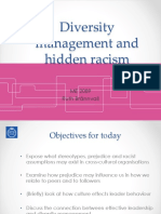 Diversity Mgt and Hidden Racism ME2089