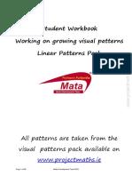 Linear Patterns Work Book