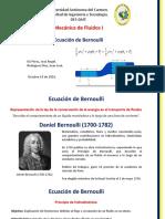 Ecuación de Bernoulli-Mecánica de Fluidos