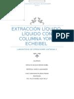Líquido-líquido Extracción Con York Scheibel Column - Copia
