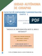 MEDIOS DE IMPUGNACIÓN ANTE EL IMSS E INFONAVIT