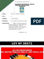 LEY DE PRESUPUESTO 2016.pptx