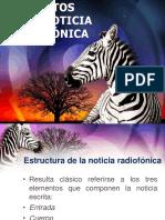 Elementos de La Noticia Radiofonica