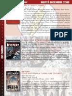 Novità fumetti Italia Dicembre 2009