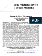 Duane & Mary Thompson Auction