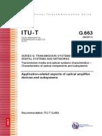 UIT-T G.663 Características de Los Medios de Transmisión, Componentes y Subsistemas Ópticos