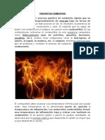 Proceso de Combustion