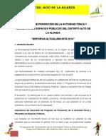 Plan de Deporvia 2014