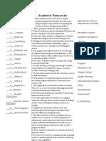 academic resources worksheet 2