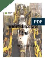 A Industrialização Tardia II
