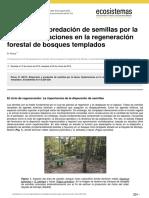Dispersion y Predacion de Semillas Por La Fauna Implicaciones en La Regeneracion Forestal de Bosques Templados