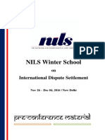 NILS Winter School on International Dispute Settlement