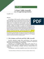 Tullio Ascarelli on the Theory of Legal Interpretation