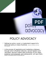 Presentation- Policy Advocacy