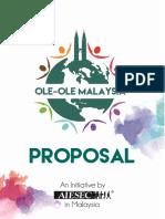 Ole-Ole Malaysia Proposal in-Kind Sponsorship