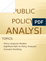 Public Policy Analysis Models