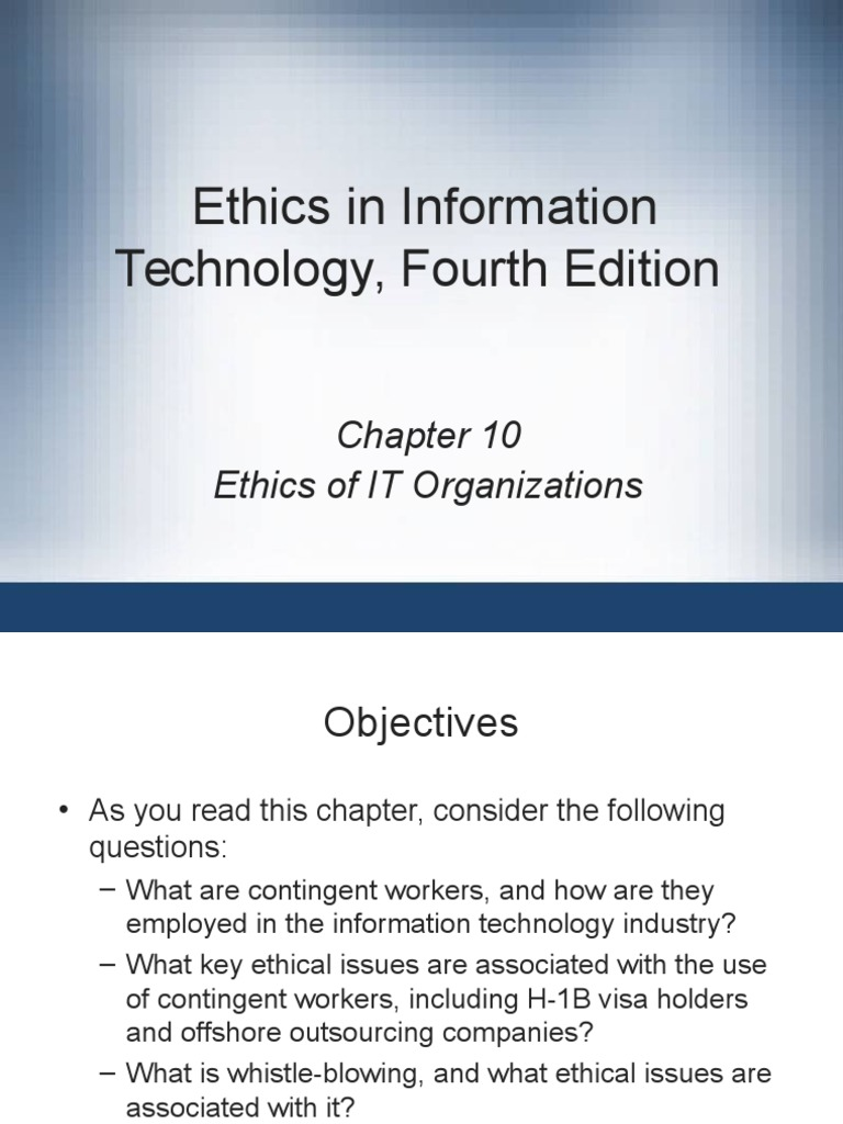 outsourcing ethical issues