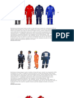 Caracteristicas de Ropa