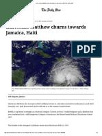 Hurricane Matthew Churns Towards Jamaica, Haiti