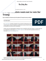 375 Top Scientists Warn Not to Vote for Trump