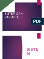 Sistem Dan Variabel