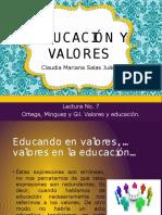 Exposición; Educación y Valores