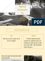 national reclamation  act