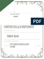 Certificate of AchievementCCTV