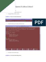 Konfigurasi IP Address Debian 8