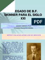 El Legado de B.F. Skinner Para El Siglo XXI