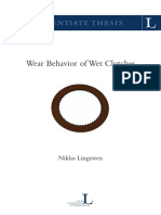 5.Wear Behavior of Wet Clutches