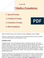 Footing - Types of Shallow