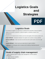 Logistics Goals and Strategies