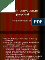 Tekhnik Penyusunan Proposal