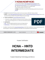 HCNA-HNTD V2.1 Intermediate Training Materials