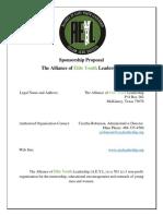 Sponsorship Proposal - AEY Leadership
