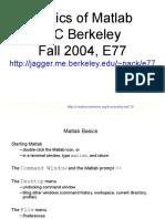 Elementary Basics of Mat Lab